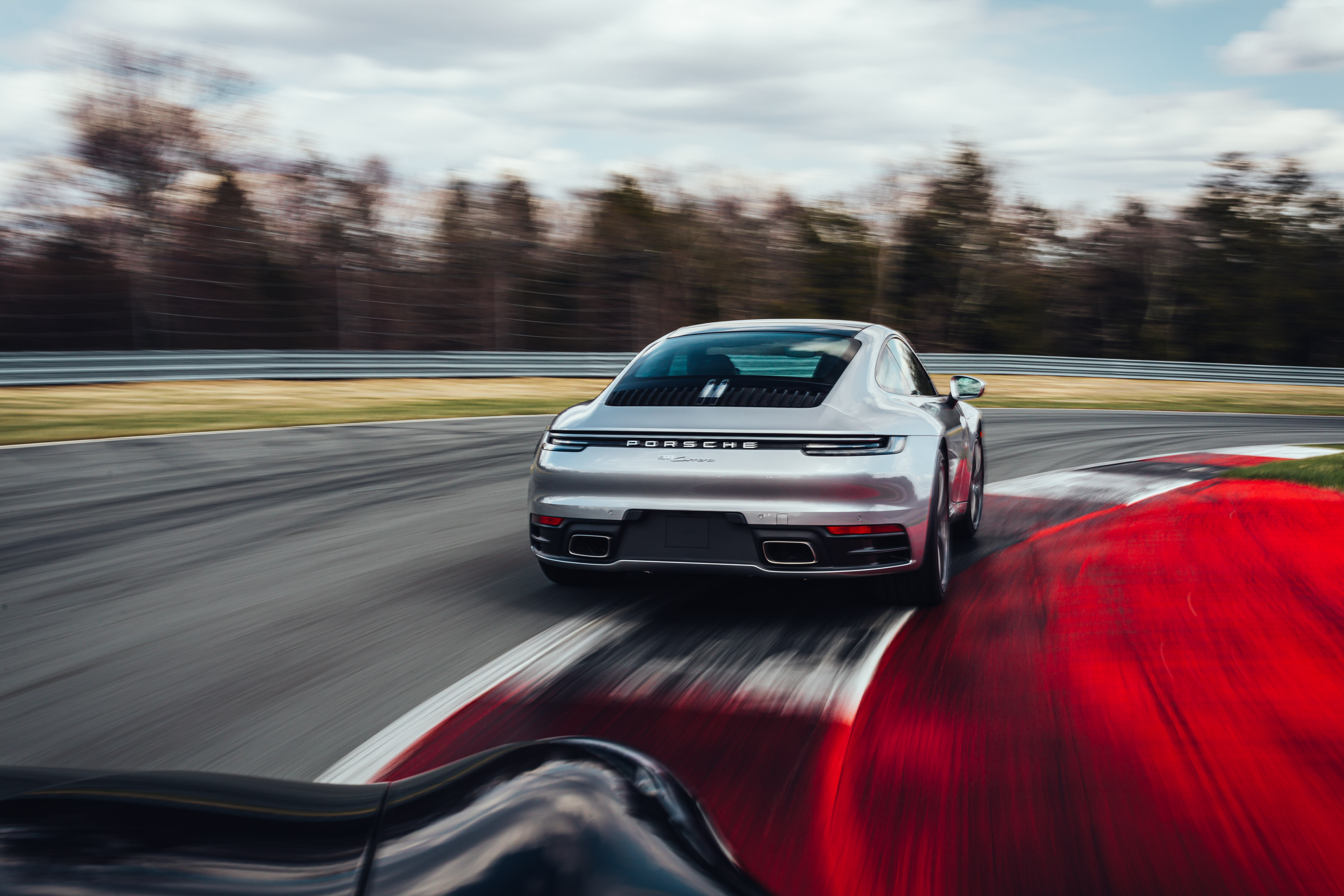 Porsche 911 at the Monticello Motor Club track.
