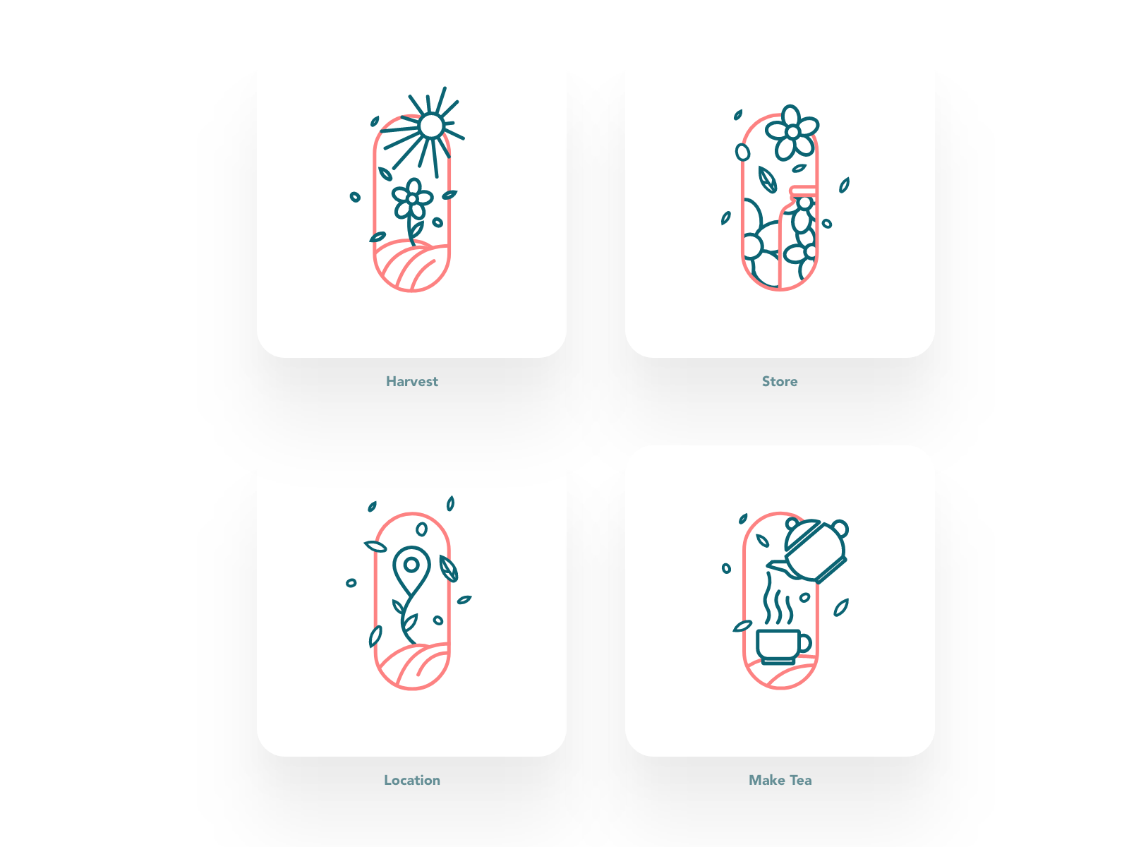Tea app Ui illustrations
