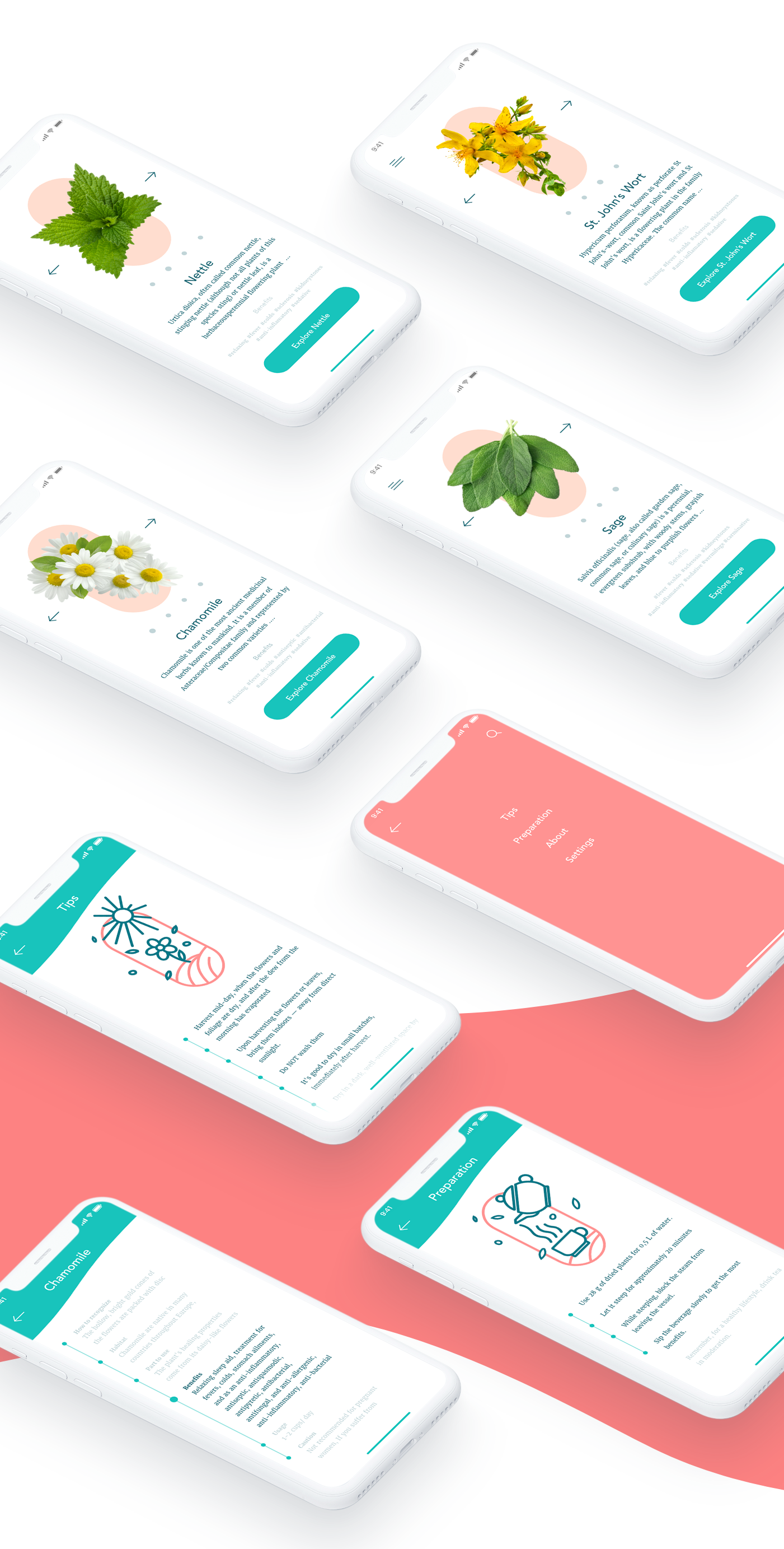 Tea app UI and UX design