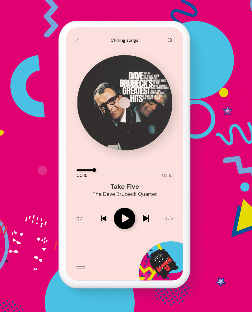 Music app UI and UX design