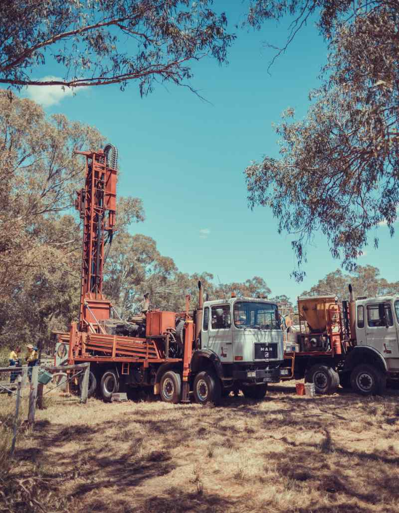 Standard superficial aquifer bore drilling in Perth.