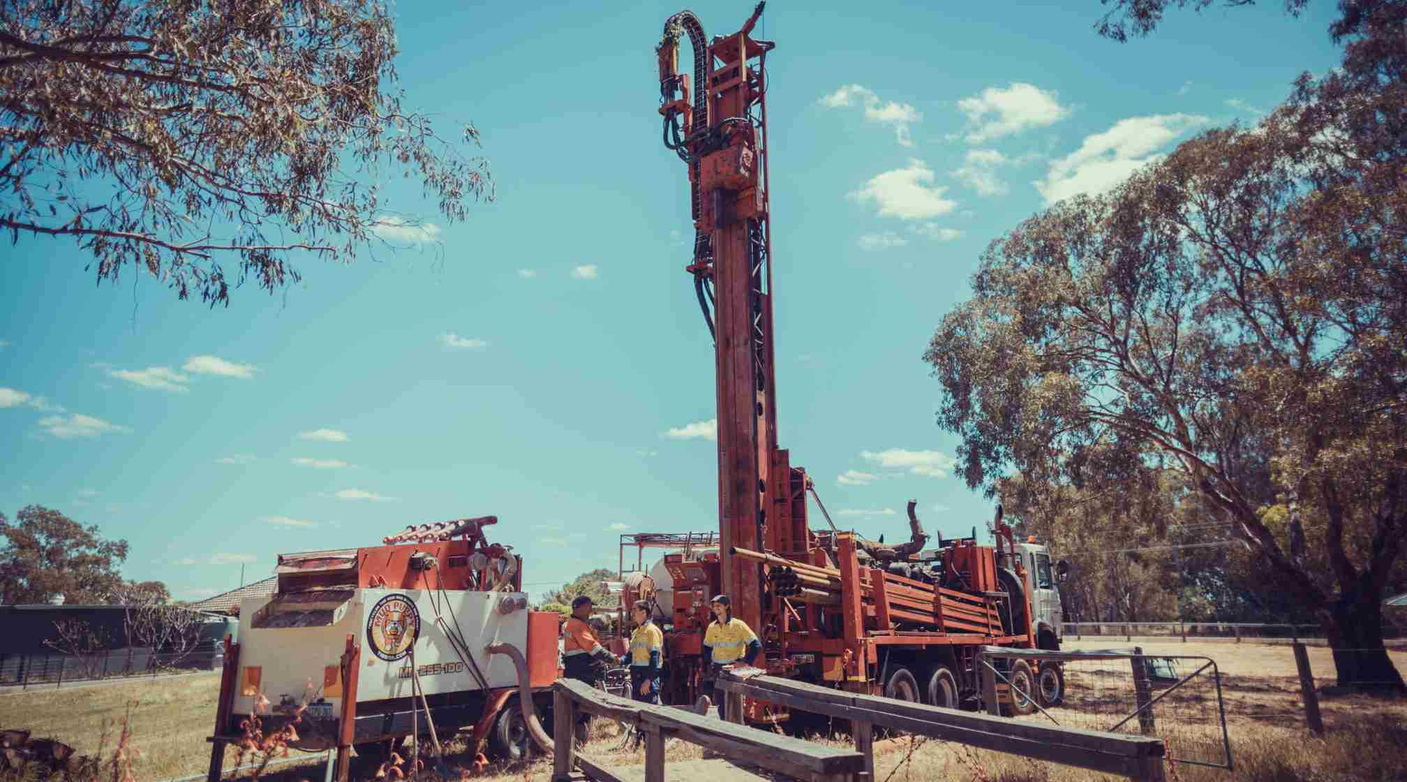 Bore drilling team BD Water based in Perth, Western Australia, City of Swan.
