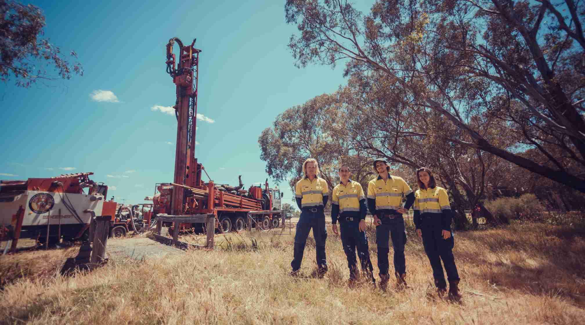 Western Australian superficial aquifer bore field installation.
