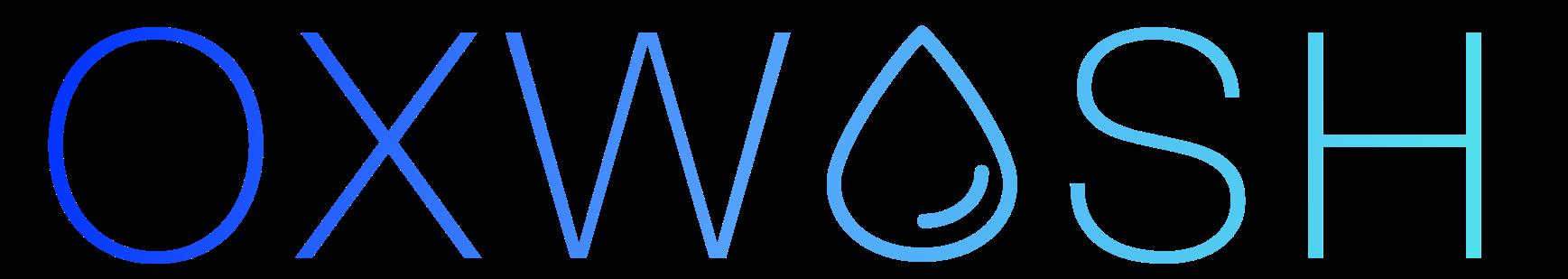 Oxwash logo blue gradient