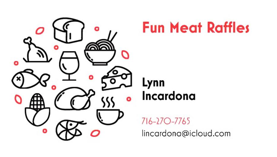 Fun Meat Raffles business card