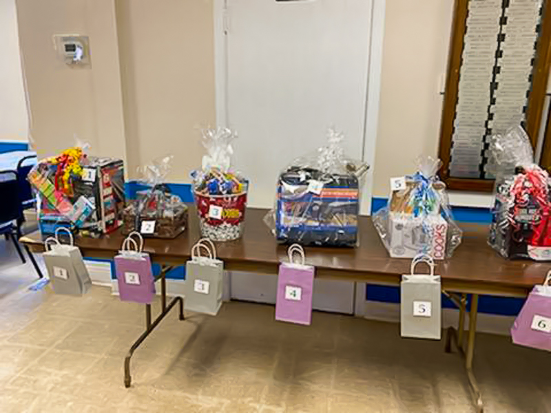Prize baskets part of raffle