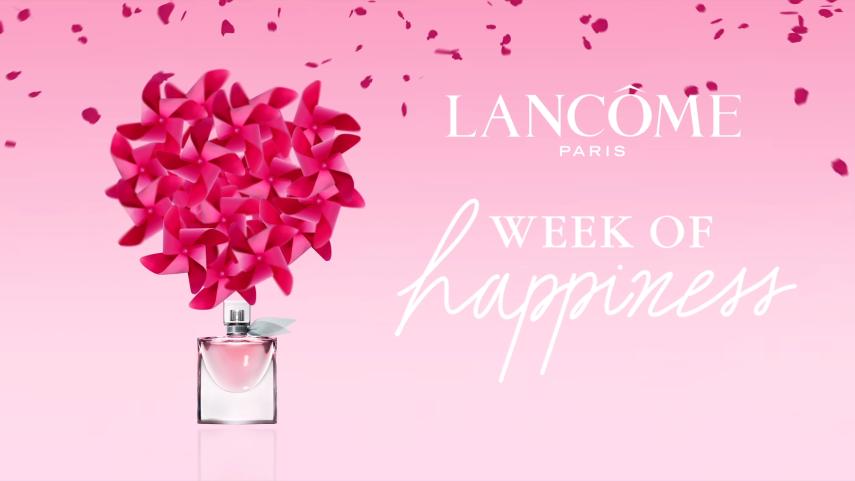 Conception et direction artistique d'une campagne d'activation digitale pour Lancôme Paris.