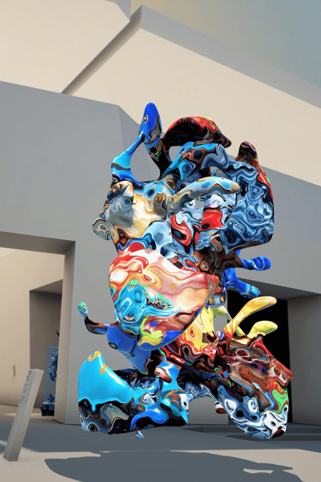 A Blort sculpture from Mack's  Blortasia , on display in the Museum of Other Realities