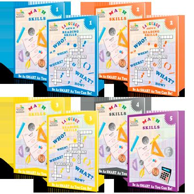 1st - 5th Grade Workbook Bundle
