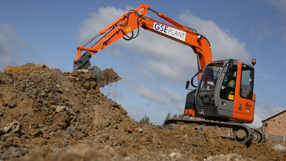 GSE Plant Ltd have ordered three 8 tonne Excavators