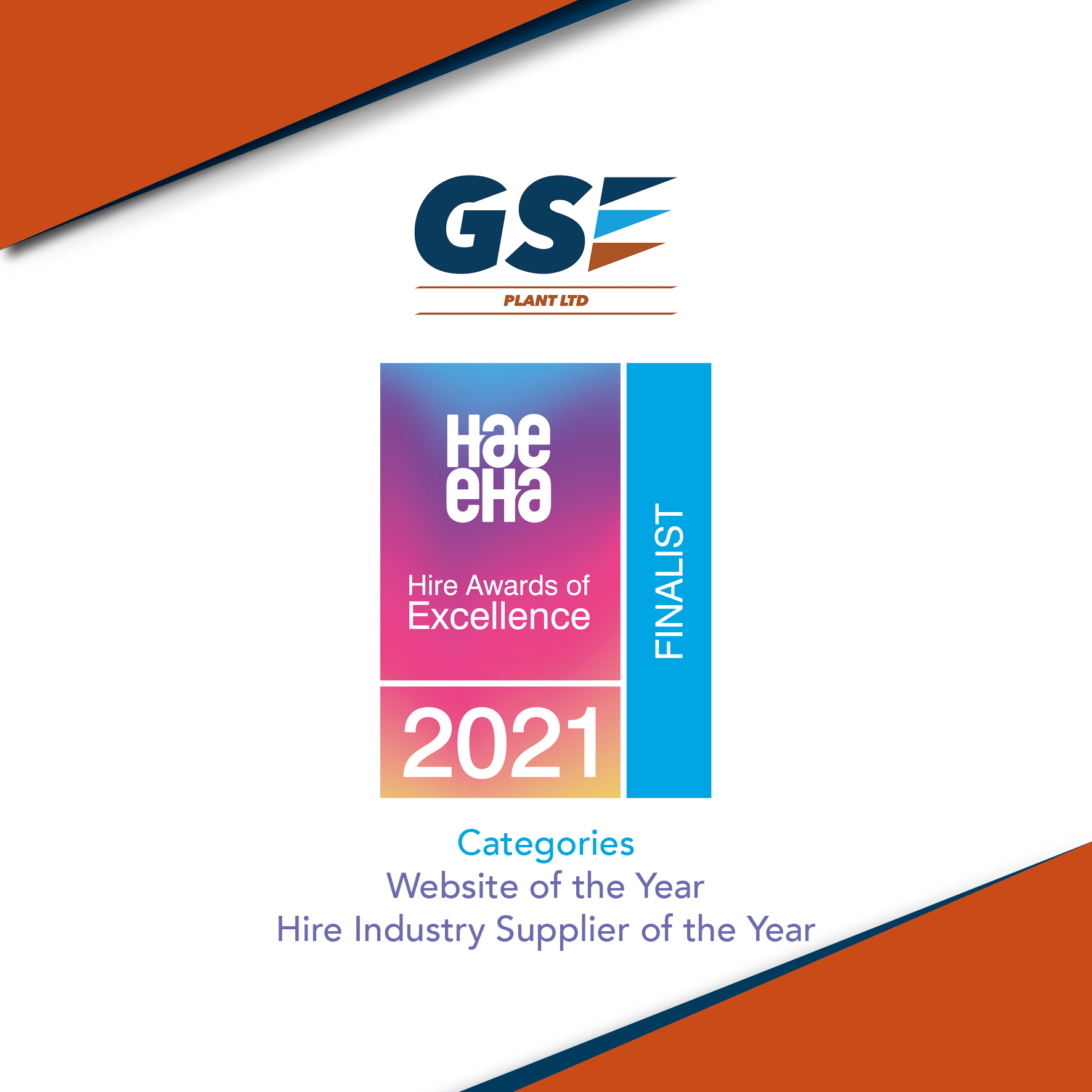 GSE Plant Ltd are finalists in two categories!