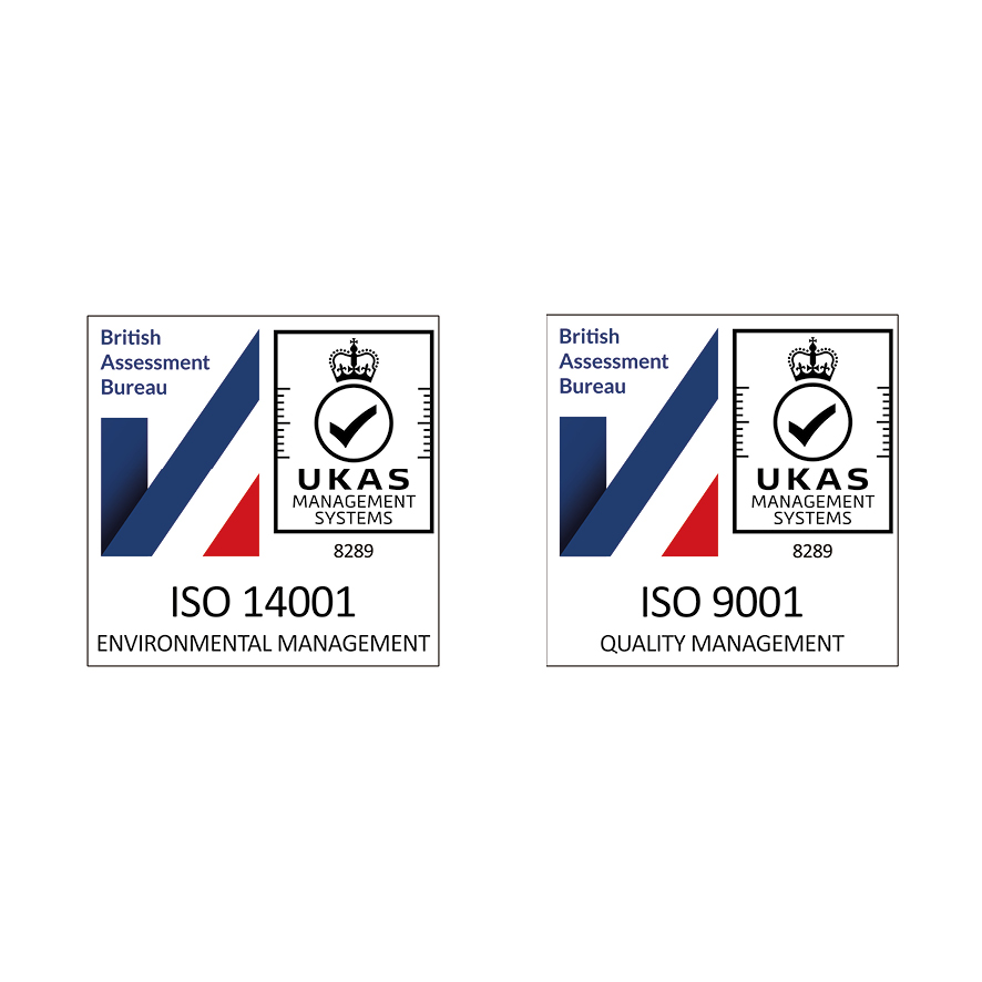 We are ISO 9001 and ISO 14001 certified!