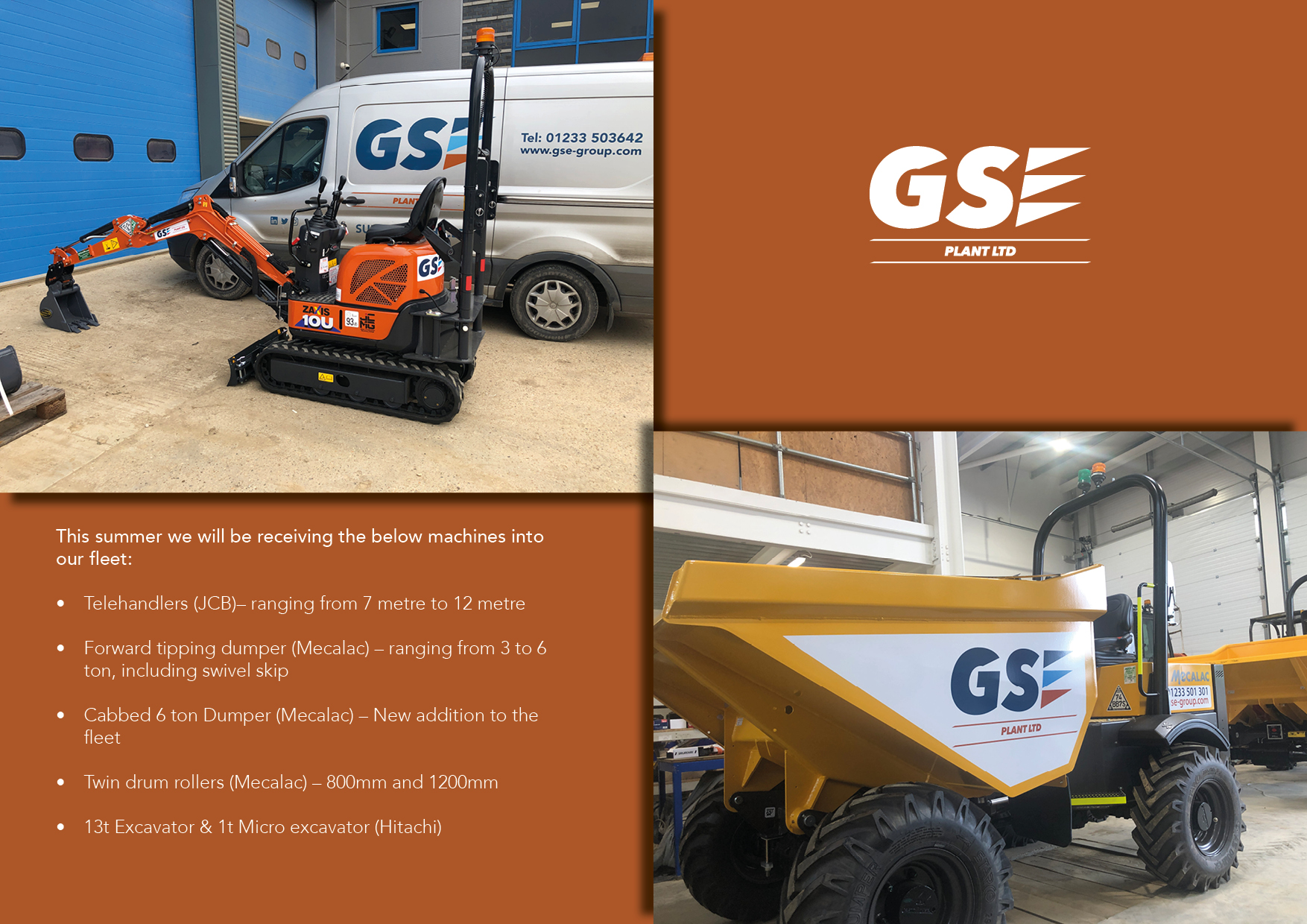 GSE Plant continue to progress with it's old for new fleet programme