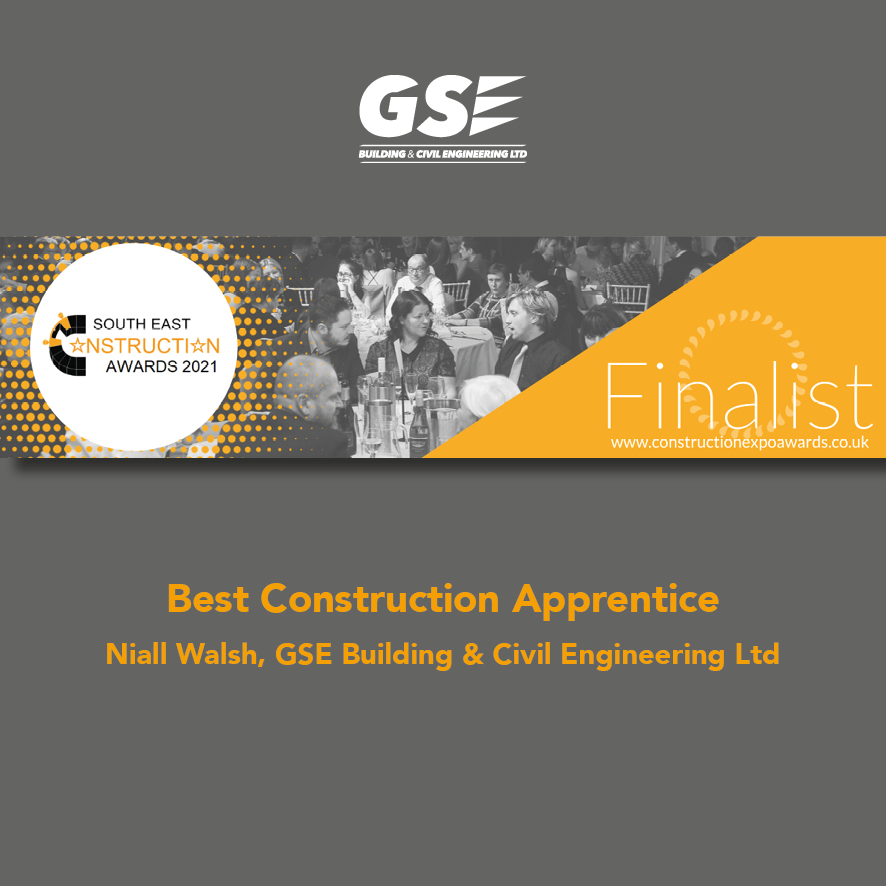 Congratulations to Niall Walsh who has been shortlisted for South East Apprentice of the Year!