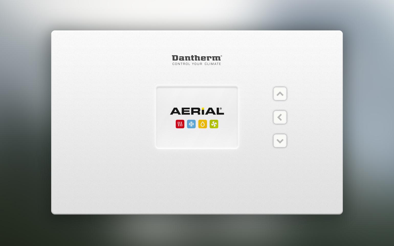 Billede der viser UI design til opstartsskærm på Dantherm Coolings CC6 controller