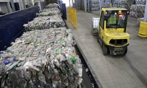 Many facilities, such as the Repreve Bottle Processing Center in Reidsville, North Carolina, have found a market for bottles and jugs, but not other plastics.