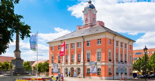 Das historische Rathaus der Stadt Templin