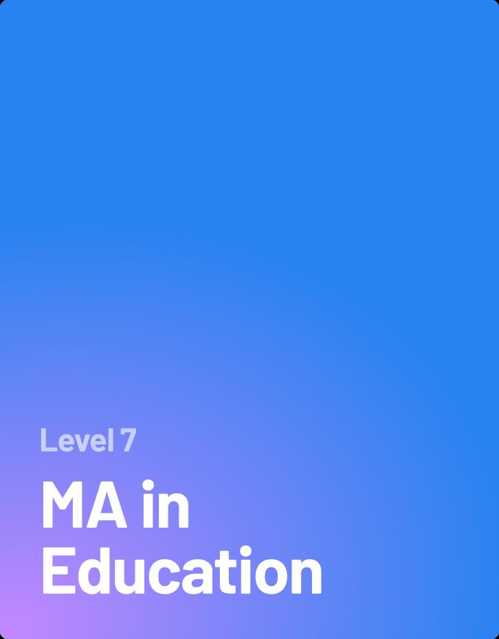 MA in Education