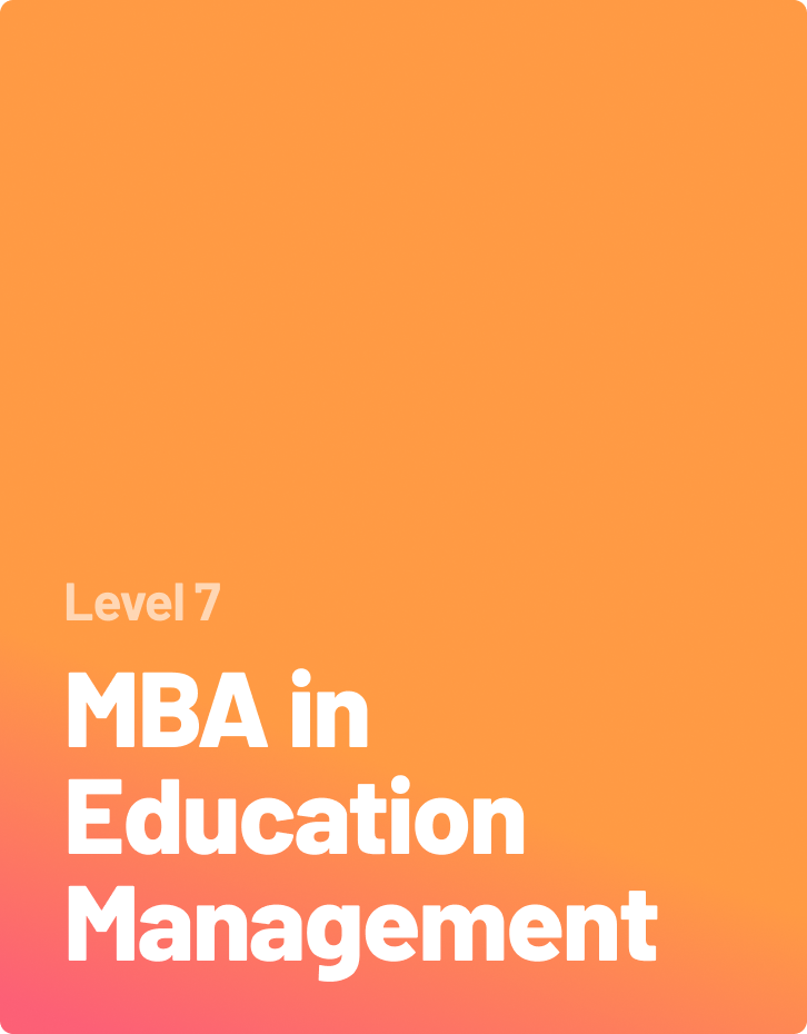 MBA in Education Management