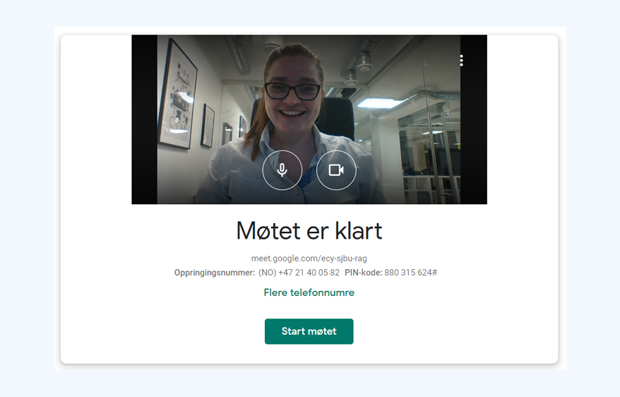 Google Hangout er et supert program til videomøter.