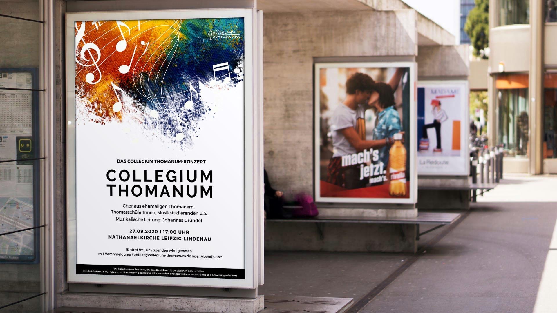 Poster für das collegium thomanum Leipzig