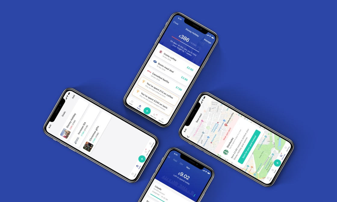 Banking digital product design screenshot.