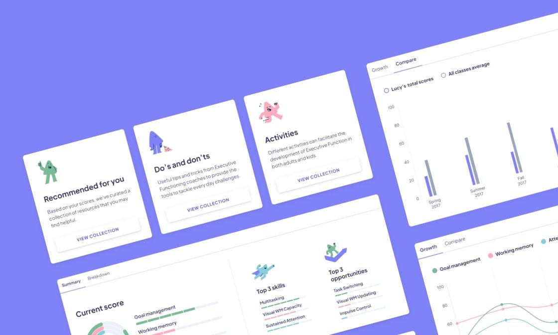 Edtech web app screenshot.