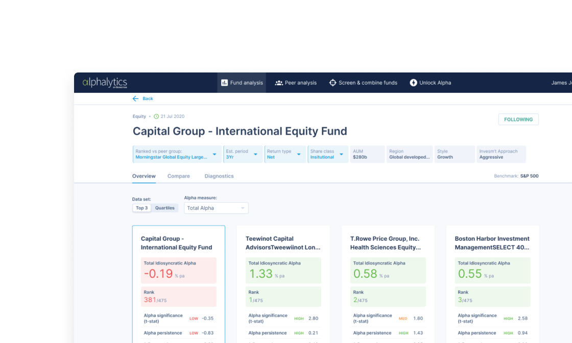 A fund research web app