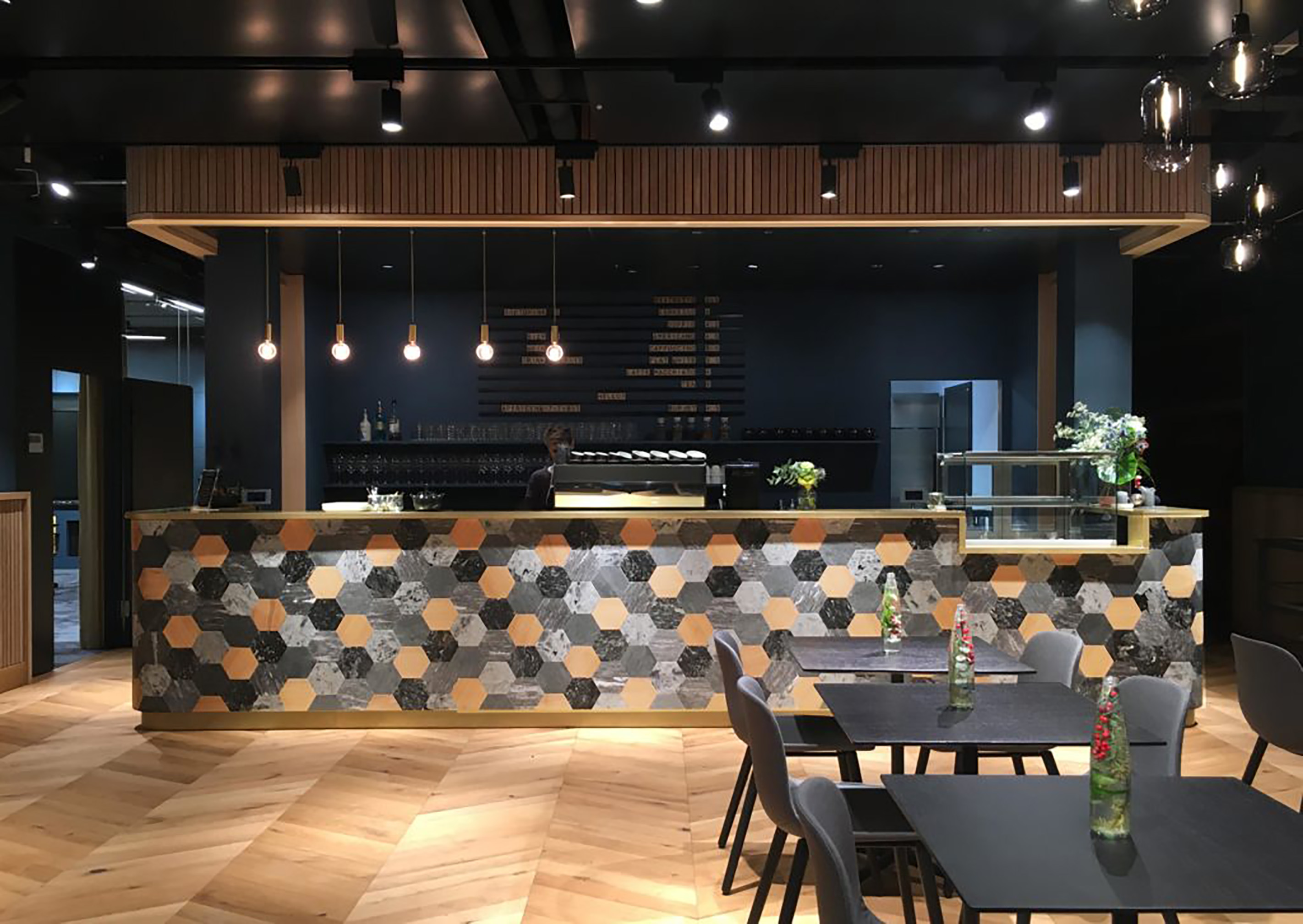 Kaffee Bar im Coworking Lounge Tessinerplatz, Bahnhof Enge, Arbeitsplatz mieten