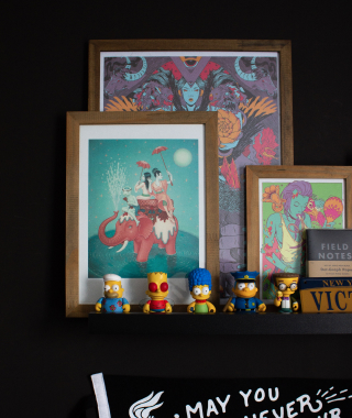 My simpsons kid robot collection and some frames