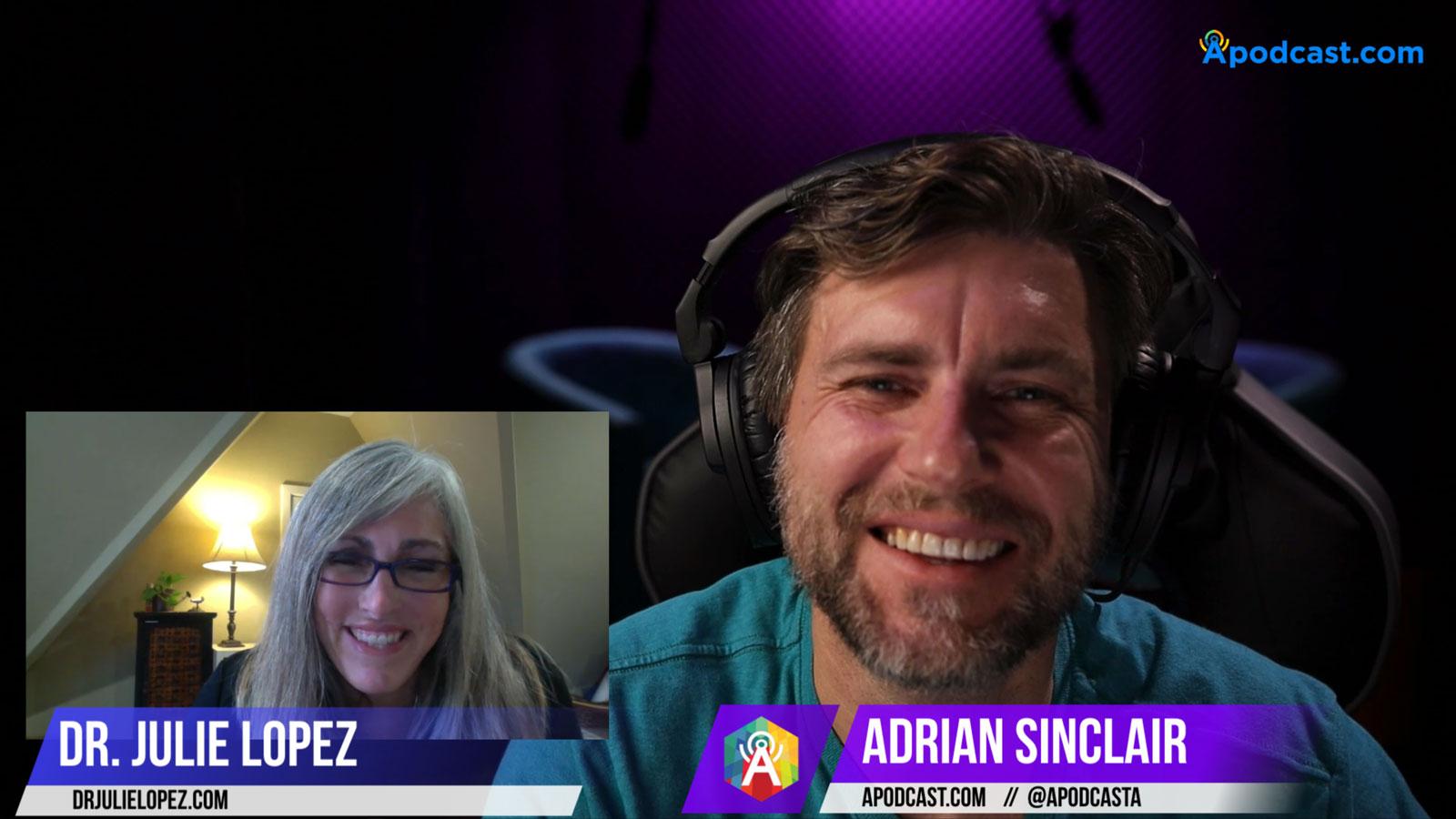 Dr. Julie Lopez with Adrian Sinclair