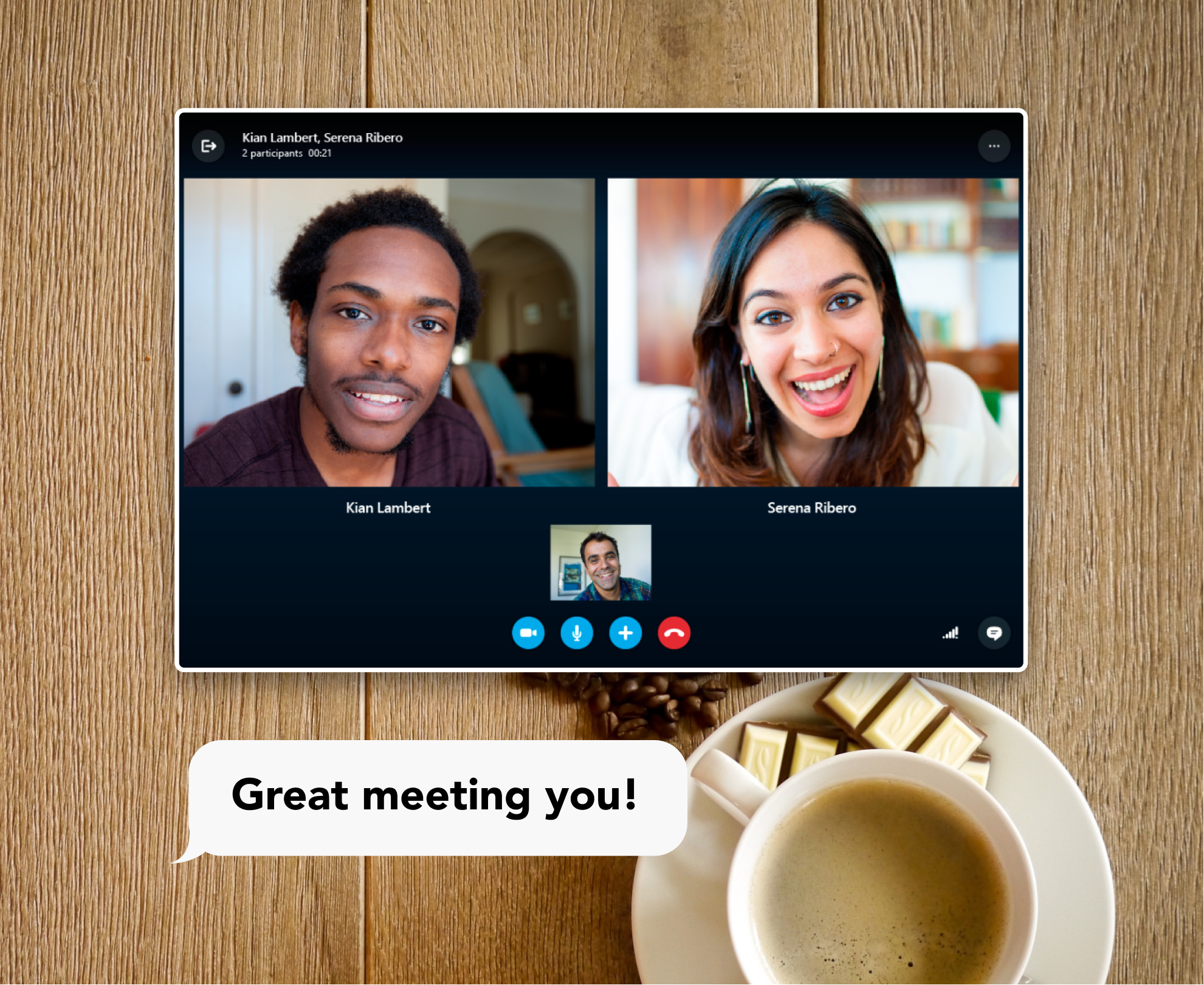Video call coffee chat