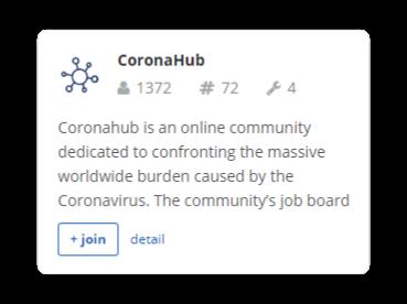 CoronaHub Slack group on Slofile
