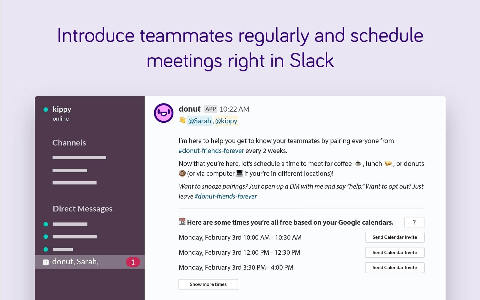 Donut Slack integration