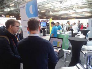Roland Gall from Onedot presenting our product to visitors