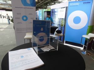 The Onedot Booth before opening up the gates for the E-Commerce Berlin Expo 2019 visitors