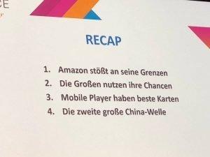 Amazon stösst an seine Grenzen, die Grossen nutzen ihre Chance, mobile Player haben beste Karten, die zweite grosse China-Welle rollt heran