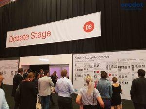 Auf der Debate Stage der DMEXCO 2018