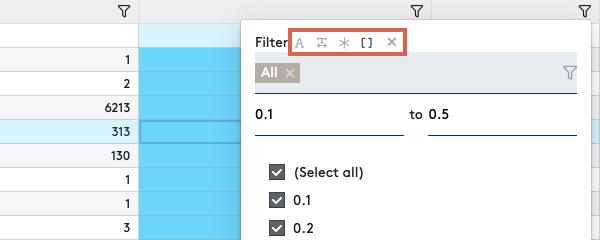 Filtern durch Wertebereich