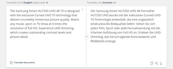 Hoch-skalierbare Textübersetzung