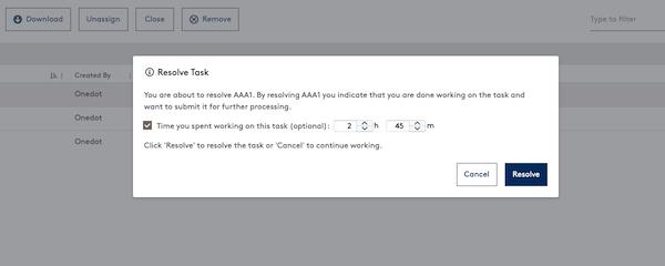 Zeit-Tracking für Feedback Aufgaben
