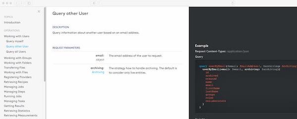 Aktualisierte Onedot API Dokumentation