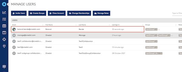 Neues Benutzer-Management