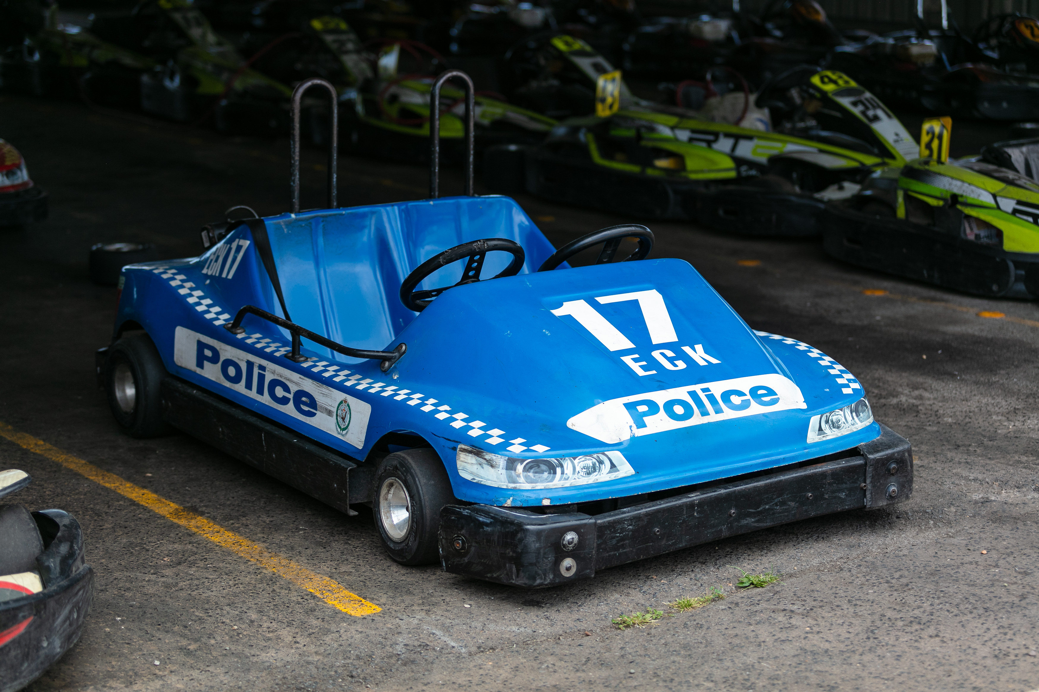 A police themed racing kart