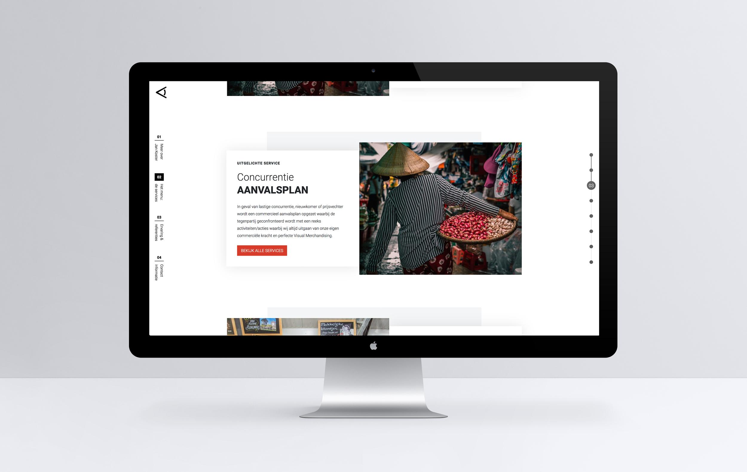 Studio Zakmes Jan Koster Visual Merchandising website design