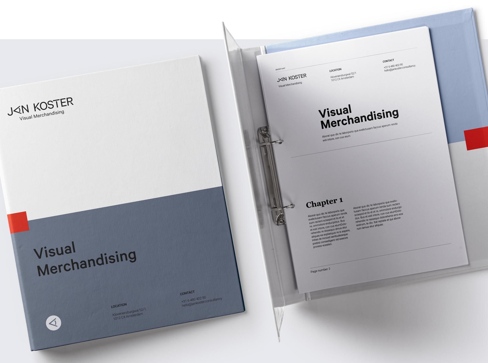 Studio Zakmes Jan Koster Visual Merchandising workbook design
