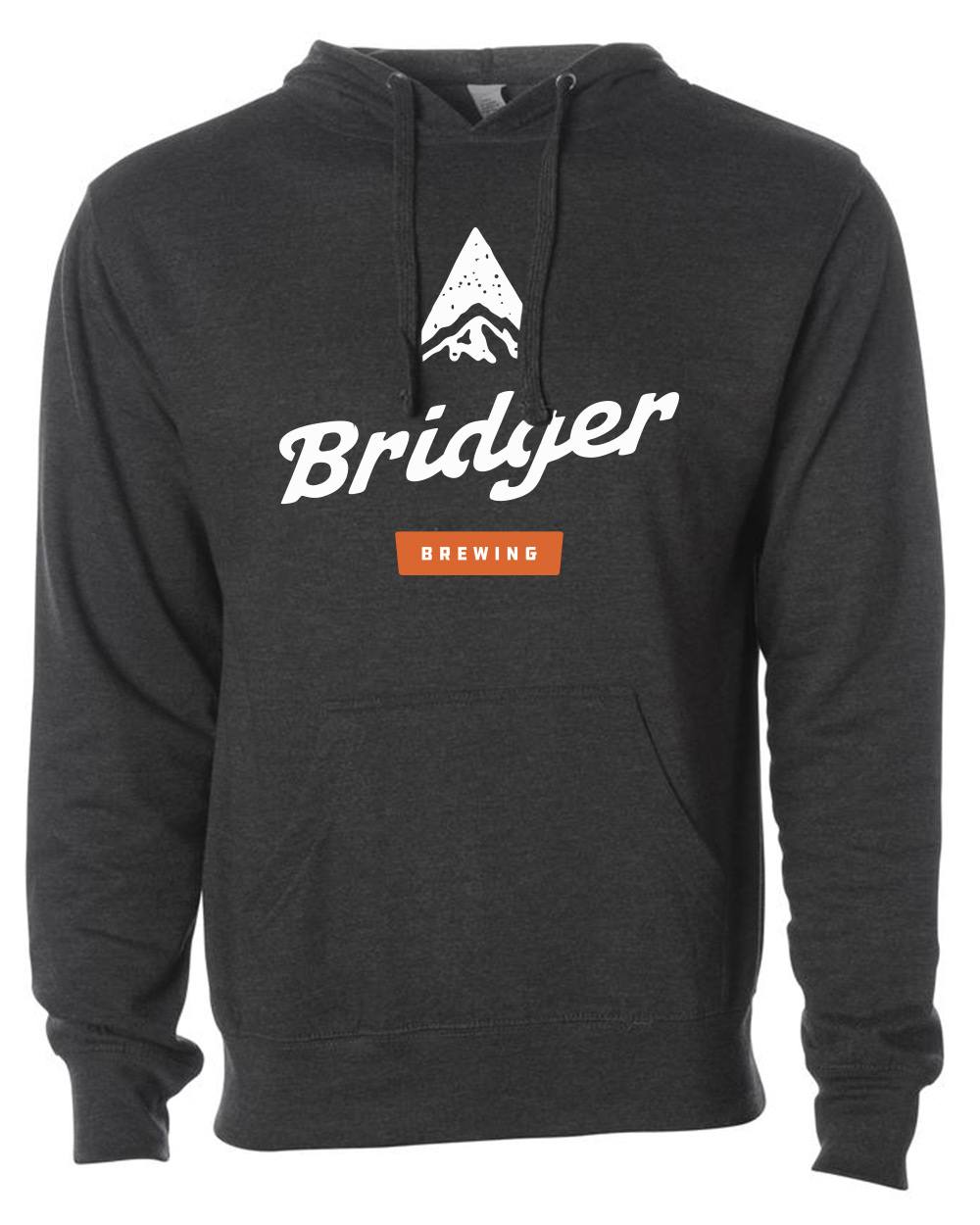 An 80/20 cotton/polyester blend fleece with 100% cotton face, our unisex Bridger logo pullover hoodie is perfect to throw in your pack or keep in the truck for an extra layer of warmth. It features the primary Bridger Brewing logo on the front.