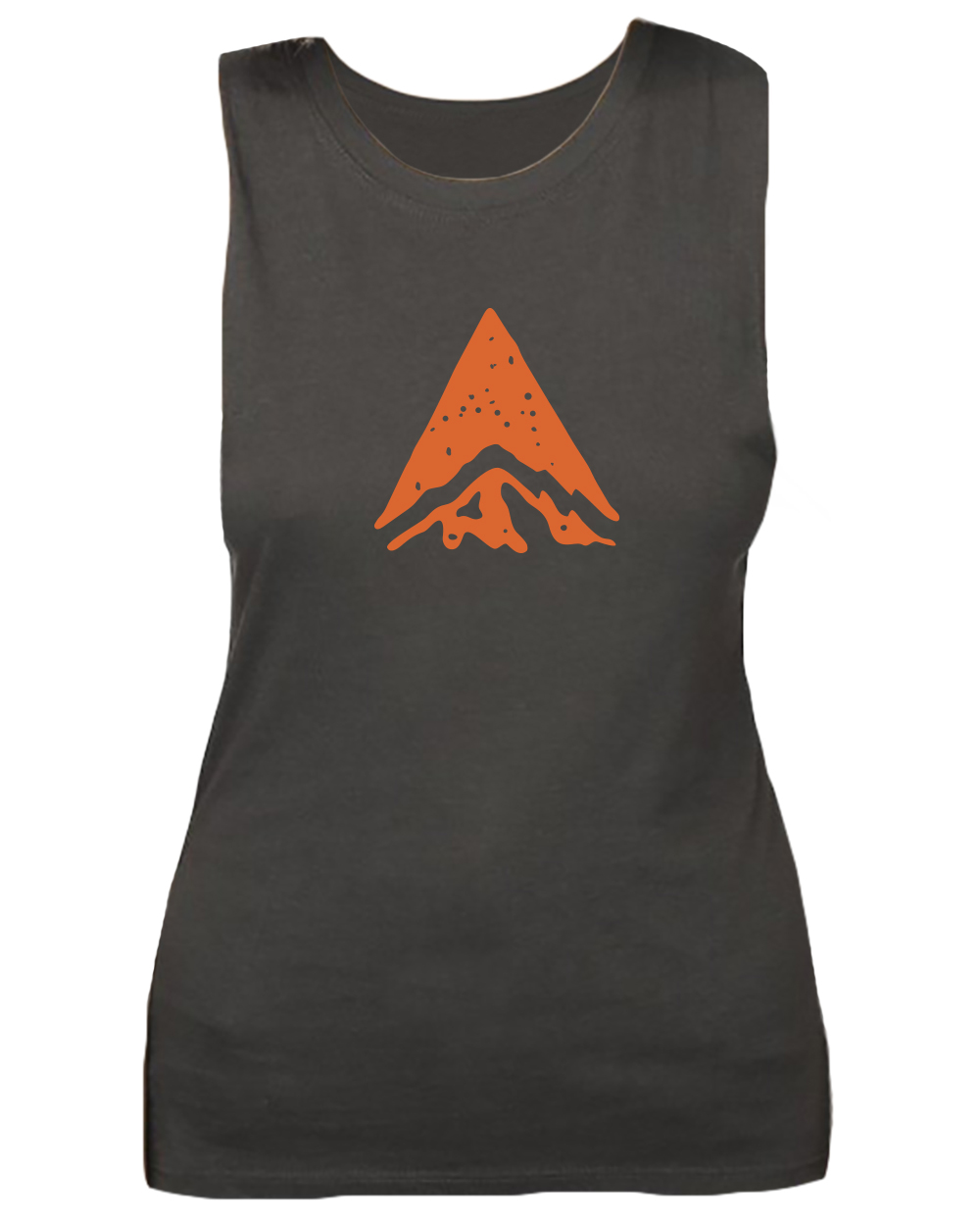 This breathable, wicking tank is sustainable and environmentally friendly, made of viscose bamboo and organic cotton. The front features the Bridger orange waypoint logo; the small Bridger stamp logo is on the upper back.