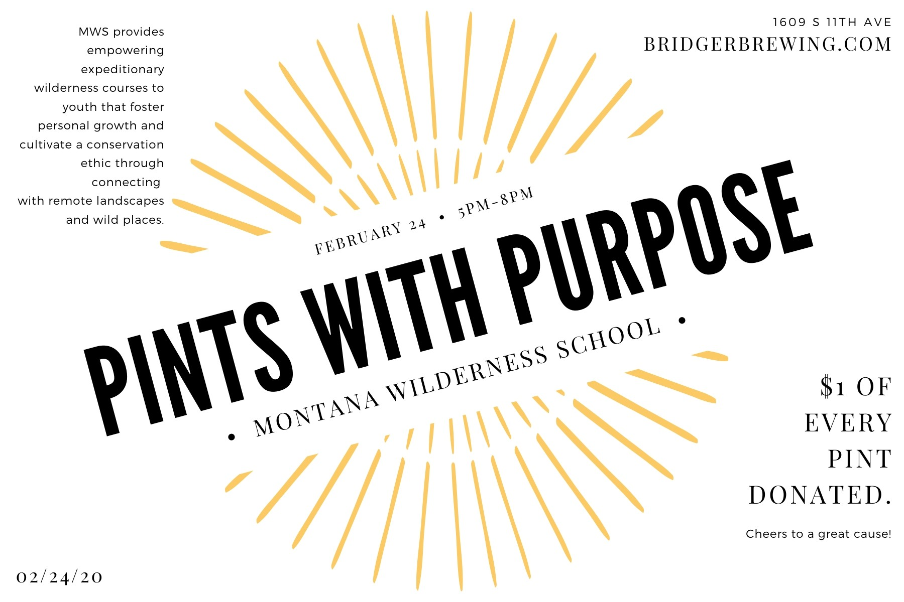Pints with Purpose · Montana Wilderness School
