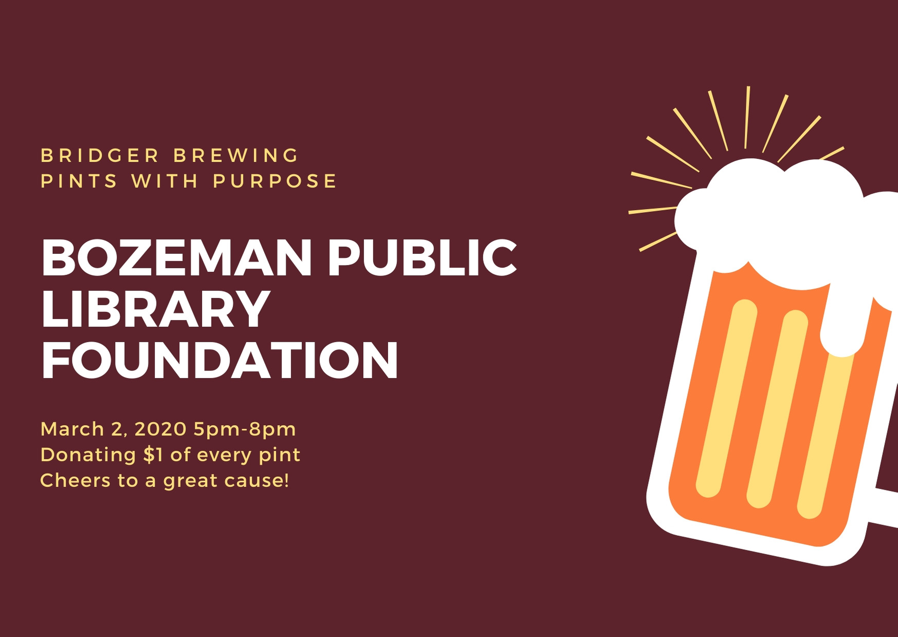 Pints with Purpose · Bozeman Public Library Foundation
